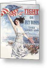 Fight Or Buy Bonds Greeting Card