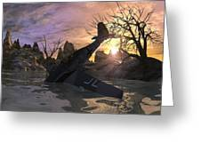 Fighter Down Greeting Card