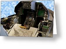 Fighter Jet Cockpit 01 Greeting Card