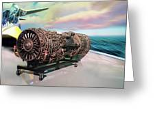 Fighter Jet Engine Greeting Card