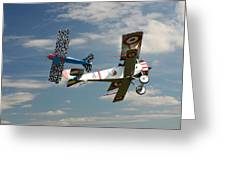 Fighting Colours 2 - Fokker D. Vll - Nieuport Greeting Card