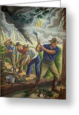 Fighting Forest Fire Greeting Card