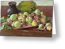 Figs And Cantaloupe Greeting Card