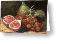 Figs And Grapes Greeting Card