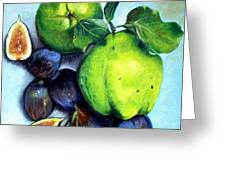 Figs And Quinces Greeting Card