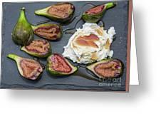 Figs Dessert With Mascarpone Greeting Card