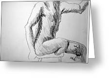 Figure Drawing 3 Greeting Card