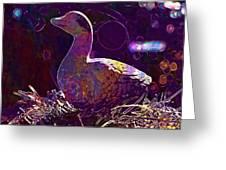 Figure Goose Clay Figure Animal  Greeting Card
