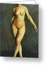 Figure In Motion 1913 Greeting Card