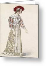 Figurine In Medieval Dress, Greeting Card