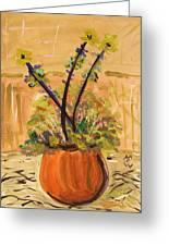 Filled Terra Cotta Vase Greeting Card