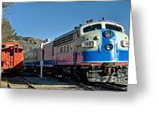 Fillmore And Western Railway Christmas Train 2 Greeting Card
