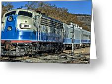 Fillmore And Western Railway Christmas Train 3 Greeting Card
