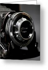 Film Camera In Black Greeting Card