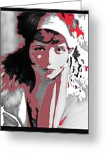 Film Homage Collage Eugene Robert Richee Photo Clara Bow 1 Circa 1927-2013 Greeting Card