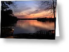 Fin Point Lake Jordan, Al Greeting Card