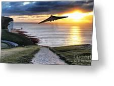 Final Beachy Head Pass Greeting Card