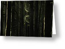 Final Light In Woods Greeting Card