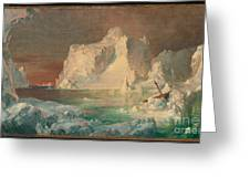 Final Study For The Icebergs Greeting Card