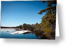 Final Winter Days On The Moose River Greeting Card