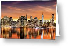 Financial District Sunset Greeting Card