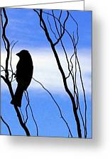Finch Silhouette 2 Greeting Card