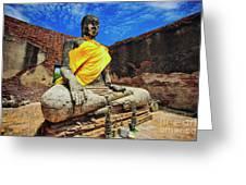Finding, Not Seeking At Wat Worachetha Ram In Ayutthaya, Thailand Greeting Card