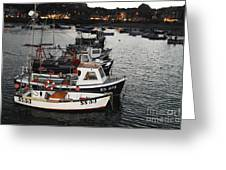 Fine Art- Boats St Ives Harbour Greeting Card