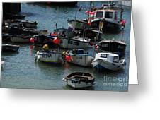 Fine Art- Boats St Ives Greeting Card