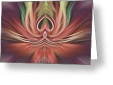 Fine Line Adstract Greeting Card
