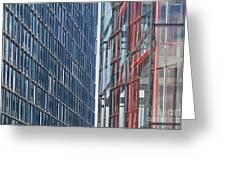 Fine Line Between Buildings Greeting Card
