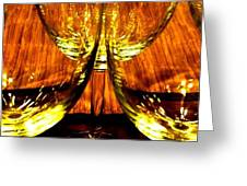 Fine Wine And Dine 3 Greeting Card
