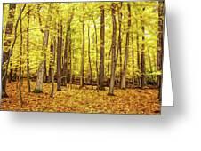 Fine Wine Cafe Golden Woods Greeting Card