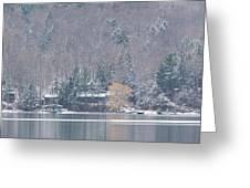 Finger Lakes Winter Panorama Greeting Card