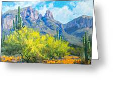 Finger Rock Tucson Az Greeting Card