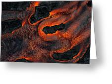 Fingers Of Lava Greeting Card