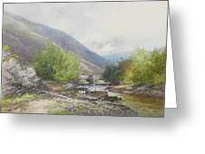 Fingle Bridge On The Teign Greeting Card