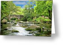 Fingle Bridge - P4a16007 Greeting Card