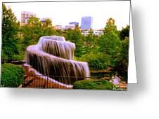 Finlay Park Fountain Summertime Greeting Card