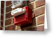 Fire Alarm Horn And Strobe Greeting Card