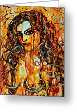 Fire And Desire Greeting Card