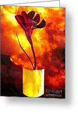 Fire And Flower Greeting Card
