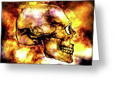 Fire And Skull Greeting Card