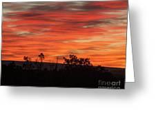 Fire At Dawn Greeting Card