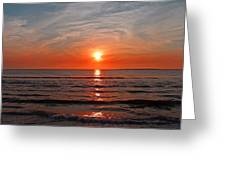 Fire At Twilight Greeting Card