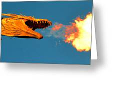 Fire Breathing Dragon Pano Work Greeting Card