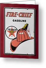 Fire-chief Sign Greeting Card
