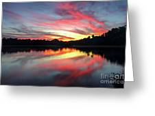 Fire Clouds Greeting Card