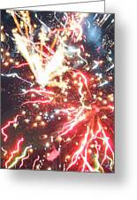 Fire Confetti Greeting Card