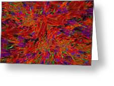 Fire Crystals Greeting Card